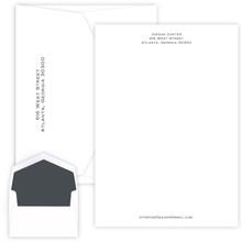 Personalized Professional Letter Sheets - Raised Ink Stationery - 50/Set (EG1126)