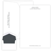 Personalized Professional Letter Sheets - Raised Ink Stationery - 25/Set (EG1126)