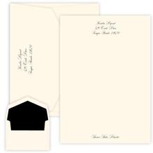 Personalized Script Letter Sheets - Raised Ink - 25/Set (EG1130)