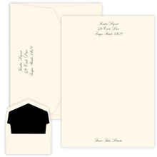 Personalized Script Letter Sheets - Raised Ink - 50/Set (EG1130)