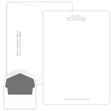 Personalized Serif Raised Ink Letter Sheets - 25/Set (EG1131)