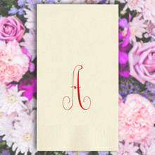 Personalized Initial Guest Towel Napkins - Foil Pressed - 100/Box (EG2679)