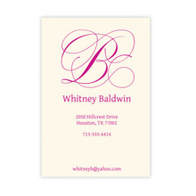 Flourish Calling Card with Raised Ink - Personalized Business Cards (EG7303)