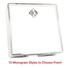 "Del Mar Monogram Memo Square Notepads with Holder - 275 Sheets - 5"" x 5"" (EG2004)"