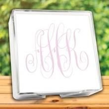 Henry Watercolor Monogram Memo Square - White with Holder (EG7072