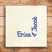Personalized Wedding Bliss Napkin - 2 Names - Foil Pressed - 100/Set (EG2680) - StationeryXpress.com
