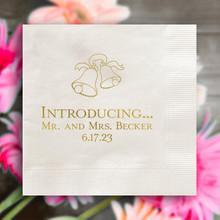 Wedding Napkins - Foil Pressed - 100/Set (EG2684)