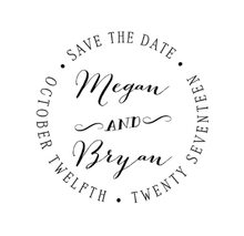 Circular Save The Date Personalized Self-Inking Wedding Stamp (TD1037)