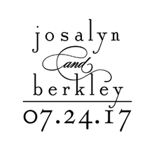 Large Date Personalized Self-Inking Wedding Stamp (TD1039)