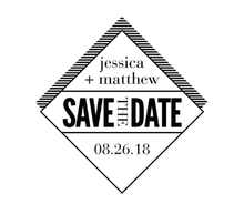 Diamond Save The Date Personalized Self-Inking Wedding Stamp (TD1041)