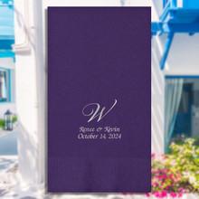 Mykonos Personalized Wedding Guest Napkins - Foil Pressed - 100/Set | StationeryXpress.com | EG2689
