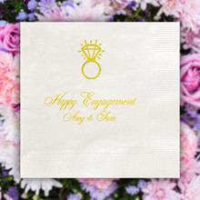 The Wedding Napkin - Foil Pressed - 100/Set (EG2692)