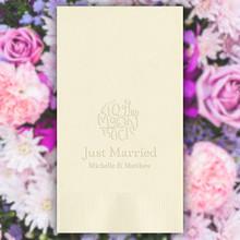 The Wedding Guest Towel Napkins - Embossed - 100/Set (EG2695)