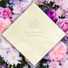 The Wedding Napkin - Embossed - 100/Set (EG2696)