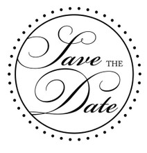 Bridal Save The Date - Stamp Clip (TD3010)