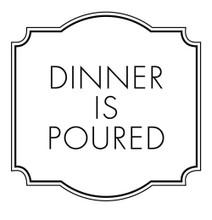 Dinner is Poured - Stamp Clip (TD3015)