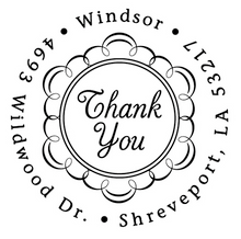 Thank You Personalized Self-Inking Address Stamp (TD1012)