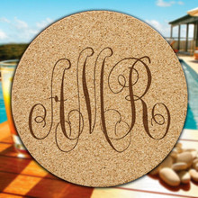 Wilshire Monogram Cork Coasters - 6/Set (EG9202)