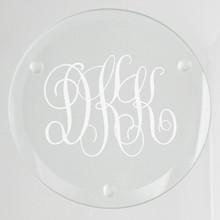 Wilshire Monogram Glass Coasters - 4/Set (EG9203)