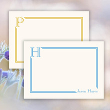 Turnbull Initial Flat Cards - Raised Ink Stationery (EG8006)