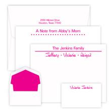 150 Piece Sunrise Stationery Set - 3 Flat Card Sizes - Raised Ink Stationery (EG1098)