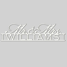 Mr. & Mrs. Engraved Wedding Wall Sign (EG9309)