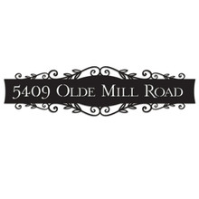 Leafage Engraved Wall Sign (EG9310)
