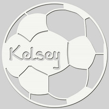 Soccer Ball Engraved Wall Sign (EG9311)