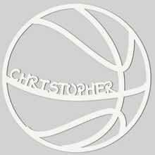 Basketball Engraved Wall Sign (EG9313)