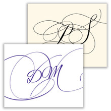 Cursivo Initial Fold Notes - Raised Ink Stationery (EG5308)