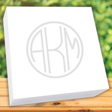 "Henry Watercolor Monogram Desk Notepad - White - 250 Sheets (6"" x 6"") (EG7076)"