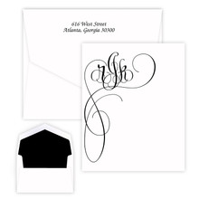 Monterey Monogram Fold Notes - Raised Ink Stationery (EG8018)