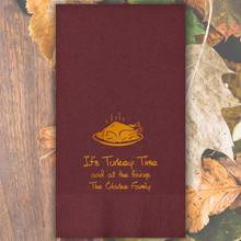 Fall Personalized Guest Towels - Foil Pressed - 100/Set | StationeryXpress.com | NX124