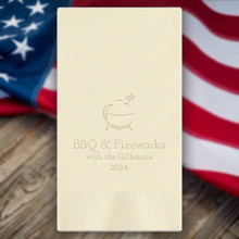 Independence Day Personalized Guest Towels - Embossed - 100/Set | StationeryXpress.com | NX128