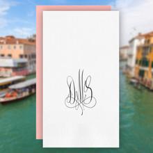 Venice Monogram Personalized Guest Towels - Foil Pressed - 100/Set | StationeryXpress.com | NX157