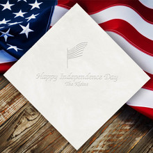 Independence Day Personalized Napkins - Embossed - 100/Set | StationeryXpress.com | NX115