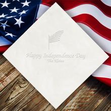 Independence Day Personalized Napkins - Embossed - 100/Set | StationeryXpress.com | NX115
