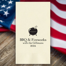 Independence Day Personalized Guest Towels - Foil Pressed - 100/Set | StationeryXpress.com | NX127