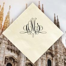 Milan Monogram Personalized Napkins - Foil Pressed - 100/Set  StationeryXpress.com NX166