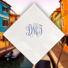 Verona Monogram Personalized Napkins - Foil Pressed - 100/Set StationeryXpress.com NX174
