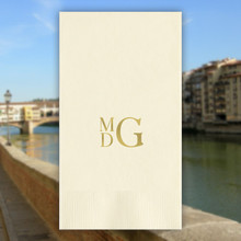 Florence Monogram Personalized Guest Towels - Foil Pressed - 100/Set | StationeryXpress.com | NX179