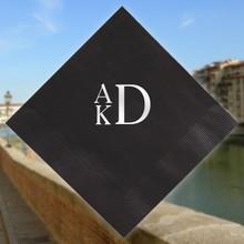 Florence Monogram Personalized Napkins - Foil Pressed - 100/Set StationeryXpress.com (NX178)