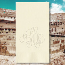 Rome Monogram Personalized Guest Towels - Embossed - 100/Set | StationeryXpress.com | NX164