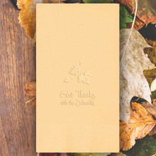 Fall Personalized Guest Towels - Embossed - 100/Set | StationeryXpress.com | NX125