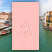 Venice Monogram Personalized Guest Towels - Embossed - 100/Set | StationeryXpress.com | NX156