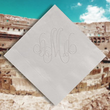 Rome Monogram Personalized Napkins - Embossed - 100/Set | StationeryXpress.com NX163