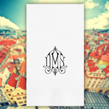 Prague Monogram Personalized Guest Towels - Foil Pressed - 100/Set | StationeryXpress.com | NX161