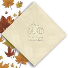 Fall Personalized Napkins - Embossed - 100/Set | StationeryXpress.com NX114