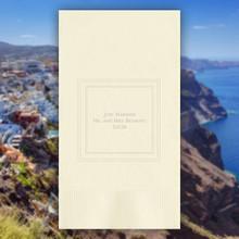 Santorini Luxury Wedding Personalized Guest Towels - Embossed - 100/Set | StationeryXpress | NX192