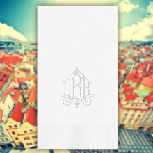 Prague Monogram Personalized Guest Towels - Embossed - 100/Set | StationeryXpress.com | NX160